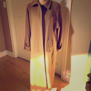 Tan, Full length Wool blend Winter Coat Size 10